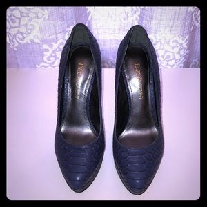 Enzo Angiolini Pumps - Navy Blue Faux Snakeskin